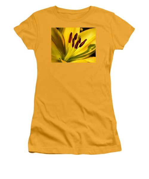 Morning Yellow Women's T-Shirt (Athletic Fit)