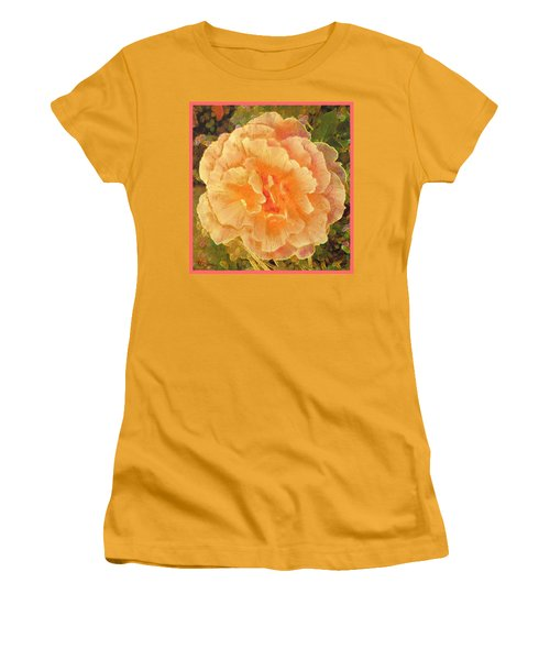 Peach Begonia Women's T-Shirt (Athletic Fit)