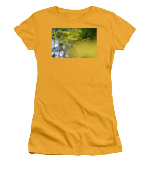 Women's T-Shirt (Junior Cut) featuring the photograph Pond-side Perch by JD Grimes