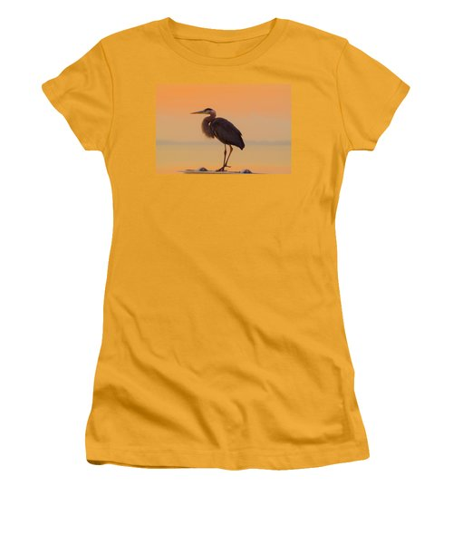 Resting Heron Women's T-Shirt (Athletic Fit)