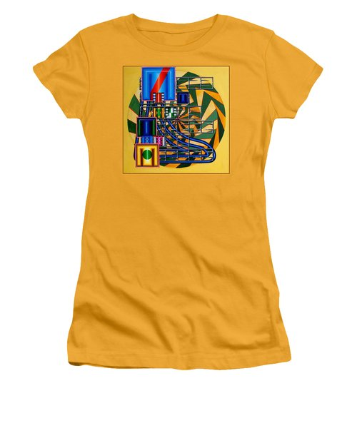 Women's T-Shirt (Junior Cut) featuring the painting Sendintank by Mark Howard Jones