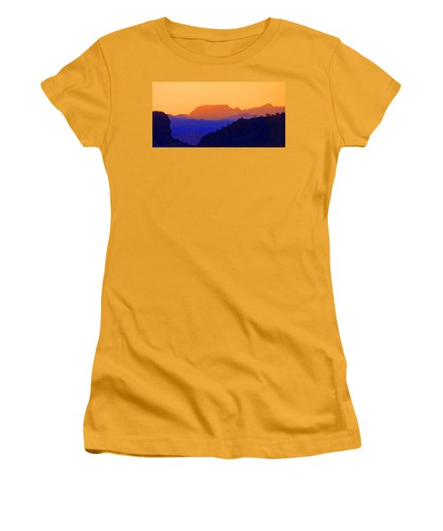 Sunset Over The Sierra Gigantes Women's T-Shirt (Junior Cut) by Anne Mott