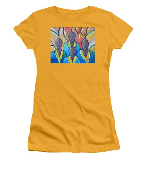 Women's T-Shirt (Junior Cut) featuring the painting The Choir by AC Williams