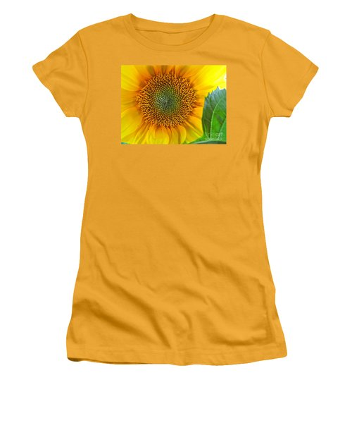 Women's T-Shirt (Junior Cut) featuring the photograph The Last Sunflower by Sean Griffin