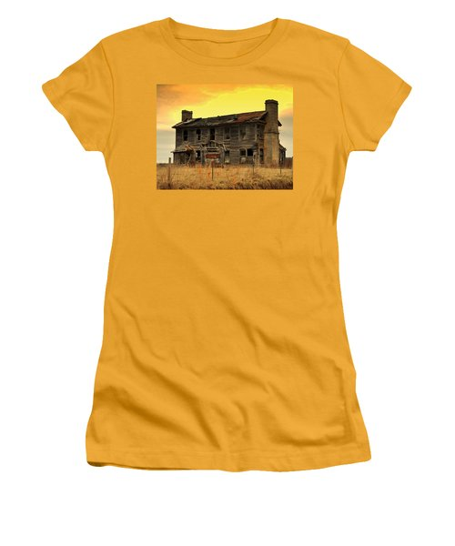 Women's T-Shirt (Junior Cut) featuring the photograph Times Past by Marty Koch