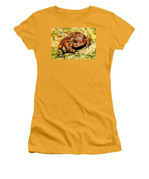 Women's T-Shirt (Junior Cut) featuring the photograph Toad by Joe  Ng