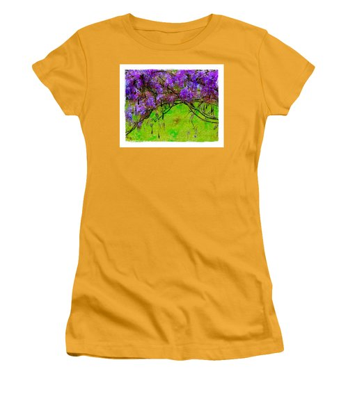 Wisteria Bower Women's T-Shirt (Junior Cut) by Judi Bagwell
