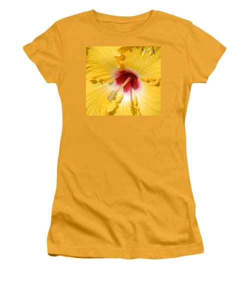 Women's T-Shirt (Junior Cut) featuring the photograph Yellow Fellow by Cindy Manero