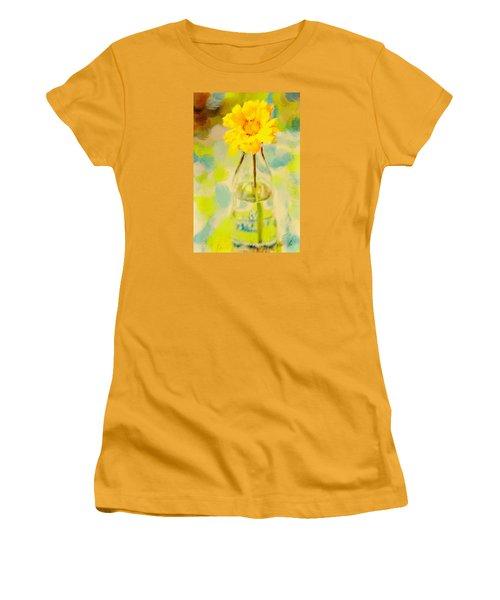 Yellow Flower Women's T-Shirt (Junior Cut) by Toni Hopper