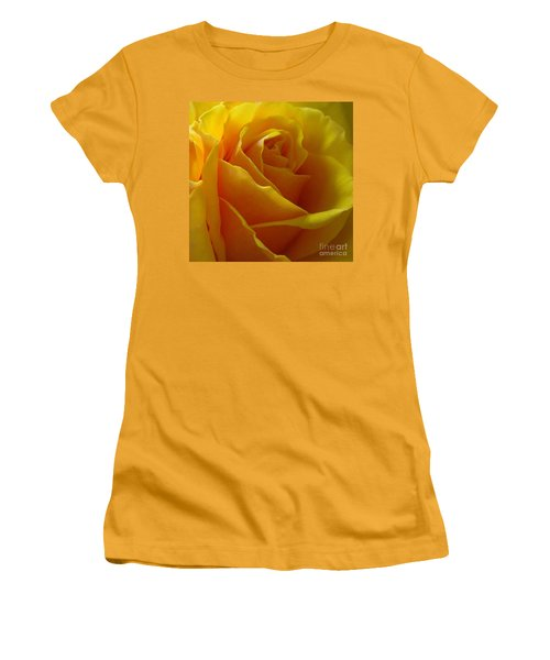 Women's T-Shirt (Junior Cut) featuring the photograph Yellow Rose Of Texas by Sandra Phryce-Jones