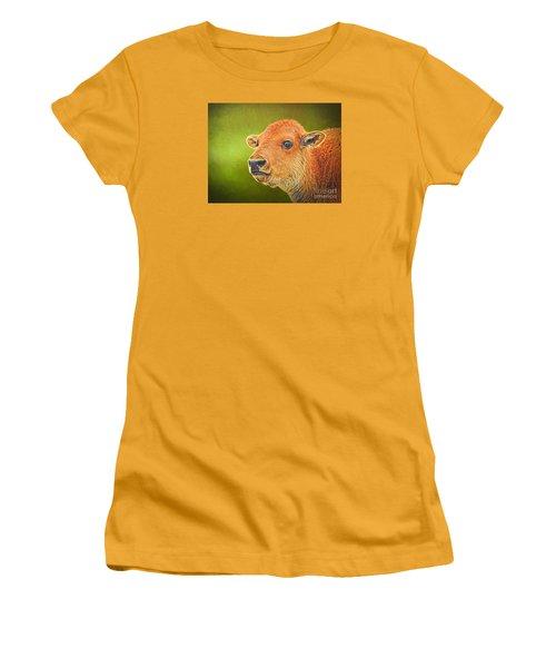 Buffalo Calf Women's T-Shirt (Junior Cut) by Suzanne Handel