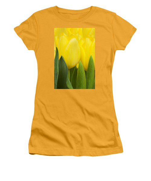 Spring Yellow Tulips Women's T-Shirt (Athletic Fit)