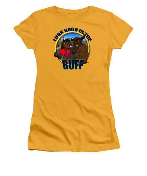 02 Look Good In The Buff Women's T-Shirt (Junior Cut) by Michael Frank Jr