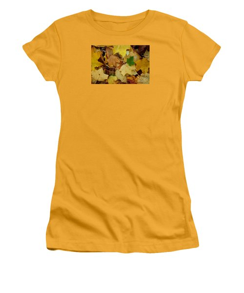 Autumn Leaves  Women's T-Shirt (Junior Cut) by Gary Bridger