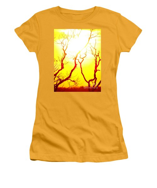 Burning Sunset Women's T-Shirt (Junior Cut) by Justin Moore