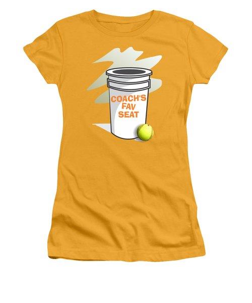 Coach's Favorite Seat Women's T-Shirt (Junior Cut) by Jerry Watkins