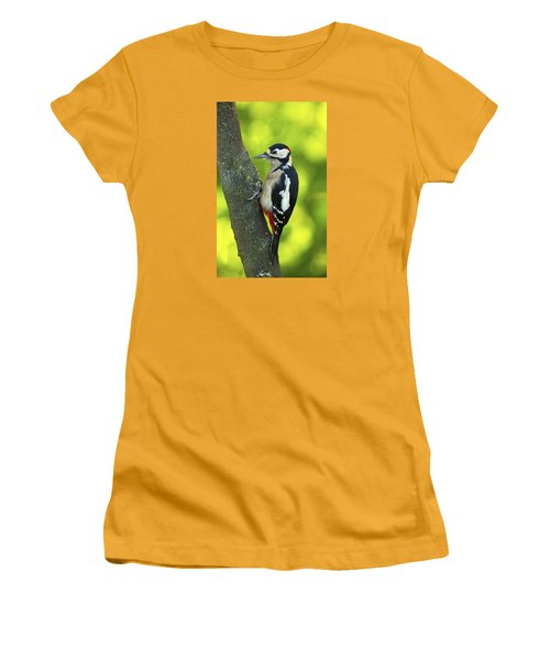Great Spotted Woodpecker Women's T-Shirt (Athletic Fit)