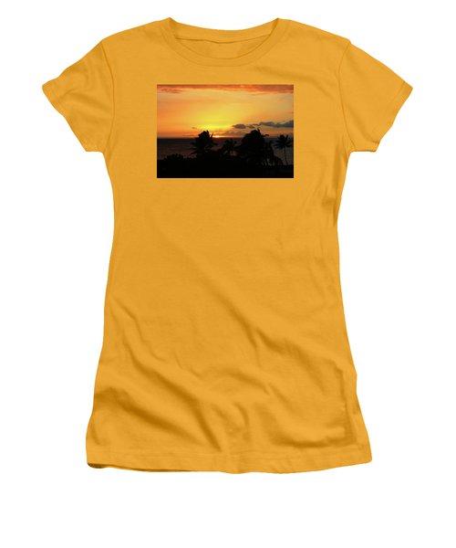 Women's T-Shirt (Junior Cut) featuring the photograph Hawaiian Sunset by Anthony Jones