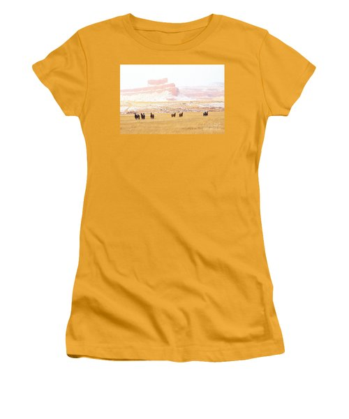 Horses Women's T-Shirt (Athletic Fit)