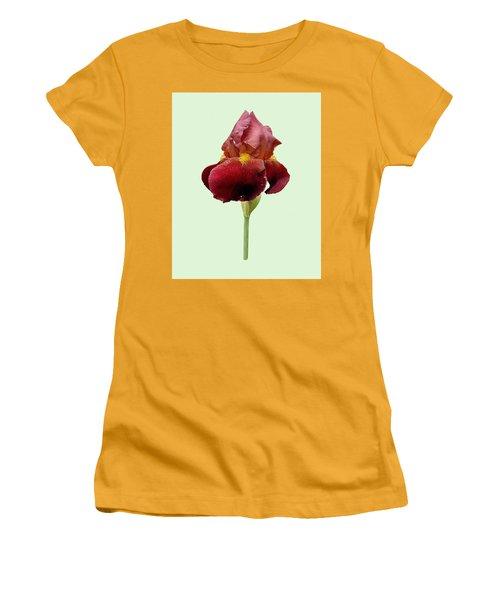 Iris Vitafire Green Background Women's T-Shirt (Junior Cut) by Paul Gulliver