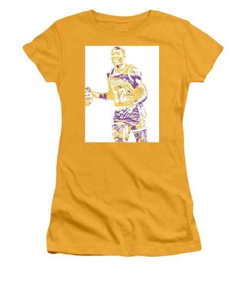 Magic Johnson Los Angeles Lakers Pixel Art 5 Women's T-Shirt (Athletic Fit)