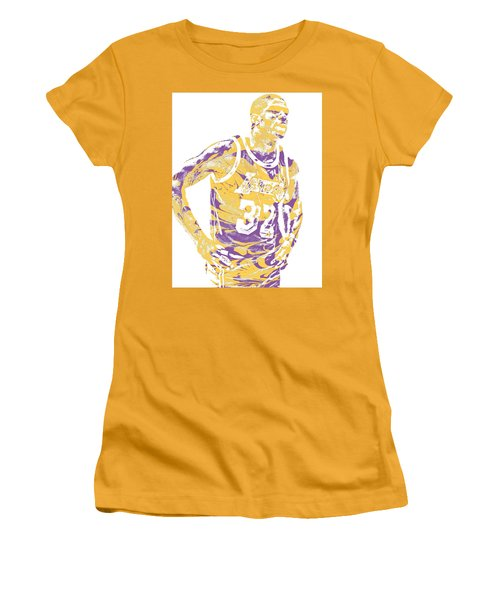 Magic Johnson Los Angeles Lakers Pixel Art 6 Women's T-Shirt (Athletic Fit)