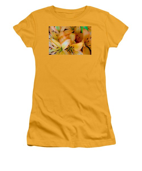Orange Lilies Women's T-Shirt (Athletic Fit)