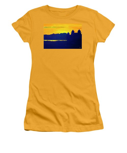 Saltair Sunset Women's T-Shirt (Junior Cut) by Jane Autry