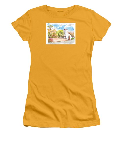 St. Catherine Of Alexandria Catholic Church, Avalon, Santa Catalina Island, Ca Women's T-Shirt (Junior Cut) by Carlos G Groppa