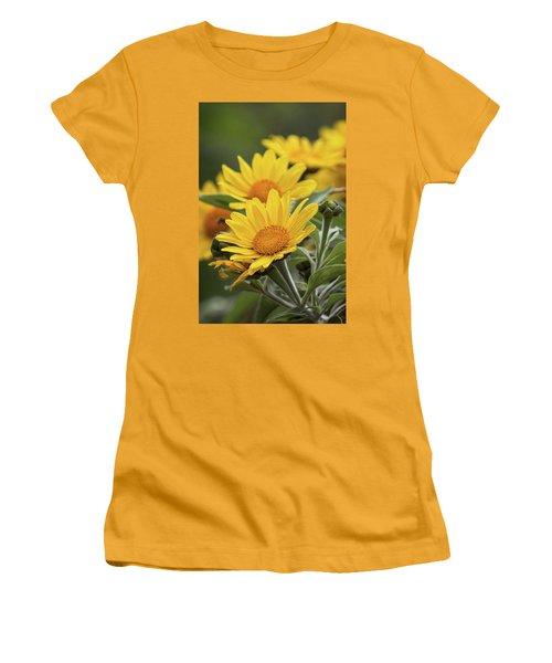Women's T-Shirt (Junior Cut) featuring the photograph Sunflowers  by Saija Lehtonen