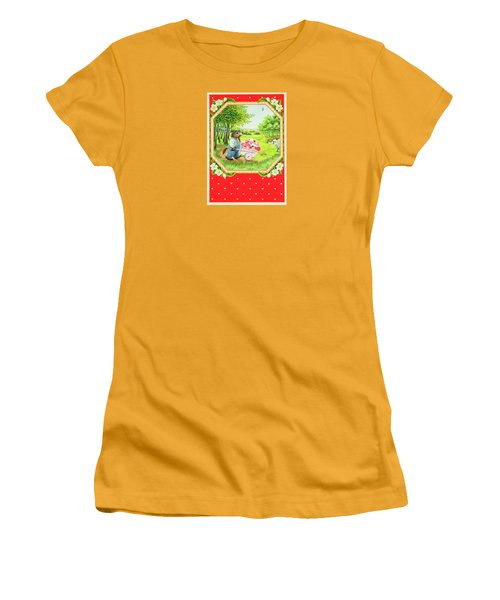 Valentine Delivery Women's T-Shirt (Junior Cut) by Lynn Bywaters