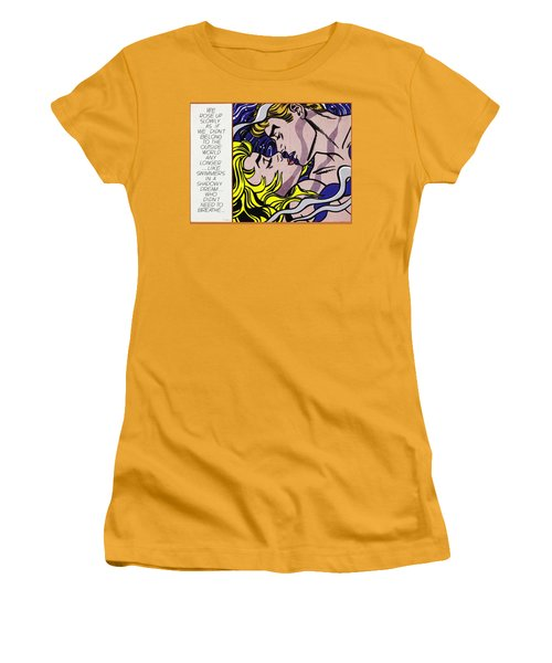We Rose Up Slowly Women's T-Shirt (Athletic Fit)