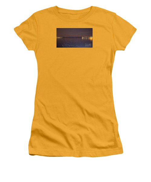 Women's T-Shirt (Junior Cut) featuring the photograph Whoosh Of Mosquitoes In The Night by Odon Czintos