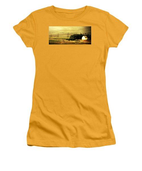 Women's T-Shirt (Junior Cut) featuring the photograph Wind Turbines by Julie Hamilton