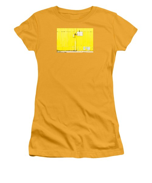 Yellow Metal  Women's T-Shirt (Athletic Fit)
