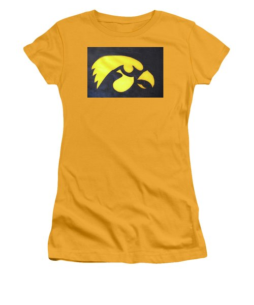 10724  Iowa Hawkeye Women's T-Shirt (Junior Cut) by Pamela Williams