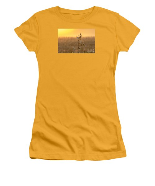 Women's T-Shirt (Junior Cut) featuring the photograph Meadow Flowers by Odon Czintos