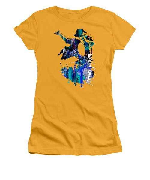Michael Jackson Collection Women's T-Shirt (Junior Cut) by Marvin Blaine