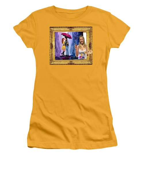 Women's T-Shirt (Junior Cut) featuring the digital art Cover Art For Gallery by Diana Riukas