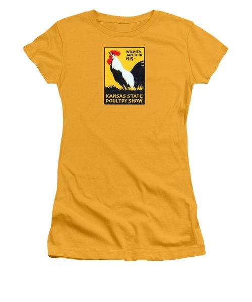 1915 Kansas Poultry Fair Women's T-Shirt (Junior Cut) by Historic Image