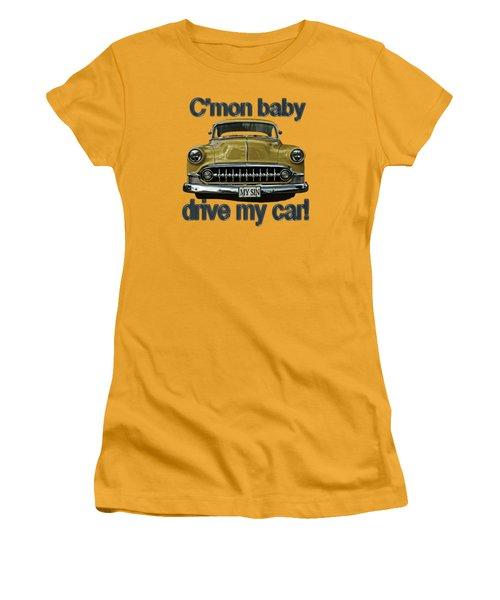 1953 Chevy Women's T-Shirt (Junior Cut) by Richard Farrington