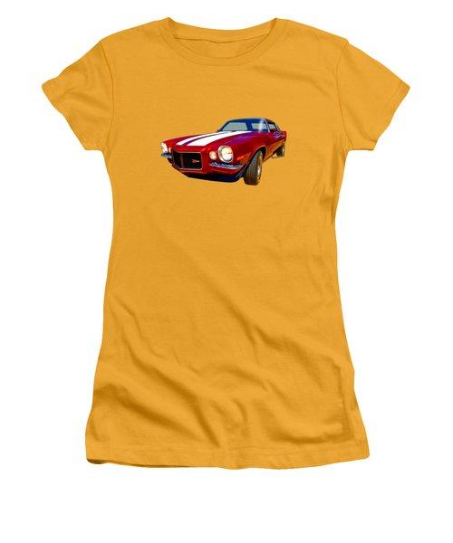 1971 Z28 Camaro Hdr Vivid Remembrance Women's T-Shirt (Athletic Fit)
