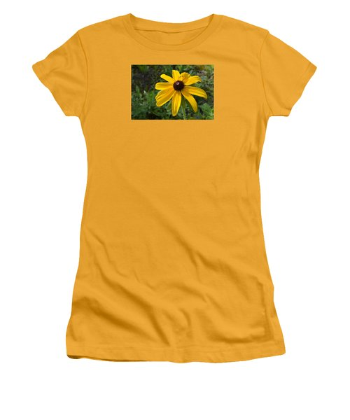 Women's T-Shirt (Junior Cut) featuring the photograph Brown Eyed Susan  by Lyle Crump