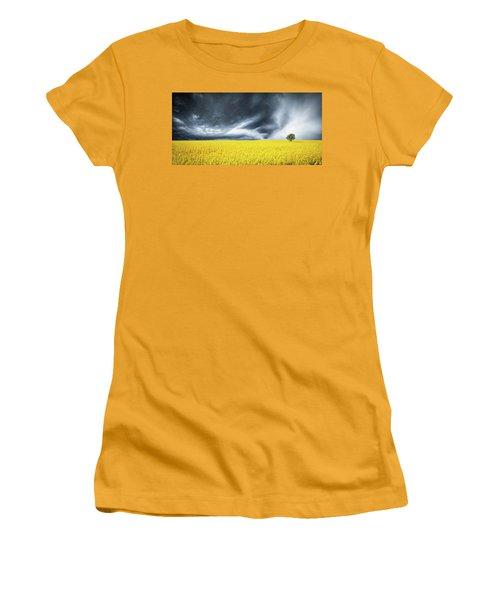 Canola Field Women's T-Shirt (Junior Cut) by Bess Hamiti