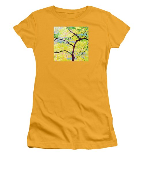 Women's T-Shirt (Junior Cut) featuring the digital art Dogwood Tree In Spring by A Gurmankin