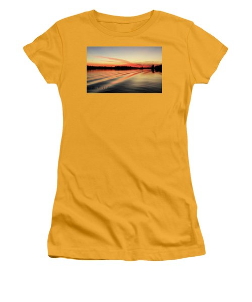 Doug Hobson, Red Rock Lake Women's T-Shirt (Athletic Fit)