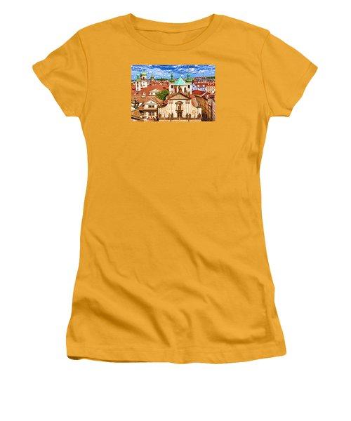 Women's T-Shirt (Junior Cut) featuring the photograph Old Town Prague by Dennis Cox WorldViews