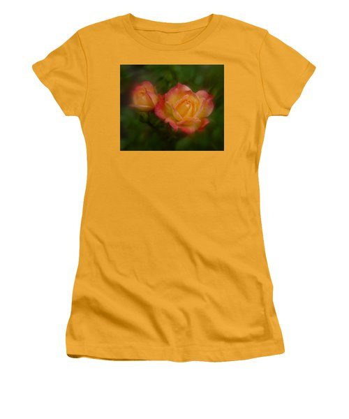 Women's T-Shirt (Junior Cut) featuring the photograph 2 Roses by Richard Cummings