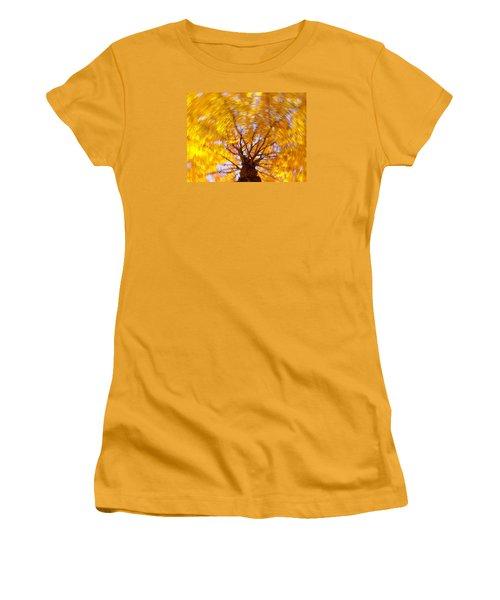 Spinning Maple Women's T-Shirt (Junior Cut) by Bernhart Hochleitner