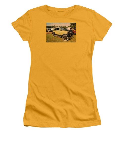 Antique Car Women's T-Shirt (Junior Cut) by Ronald Olivier